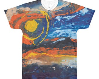 All-Over Printed T-Shirt Marble Landscape