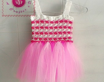 Crocheted candy baby tutu dress - free worldwide shipping
