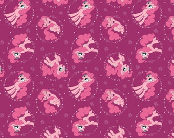 My Little Pony Fabric MLP Fabric Pinkie Pie in Fuchsia  From Camelot 100% Cotton