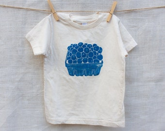 Blueberry Basket Organic Cotton Kids Tee