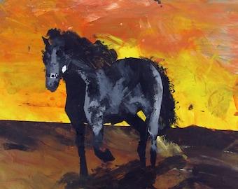 Horse at Sunset - Print