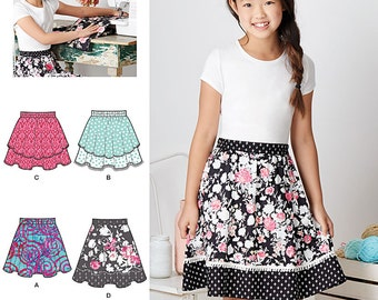Simplicity Sewing Pattern 8106 Learn To Sew Skirts for Girls and Girls Plus