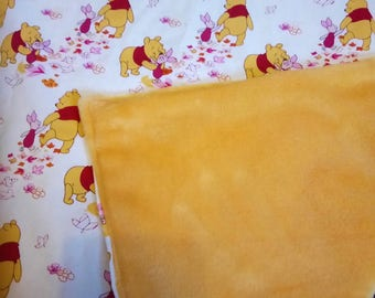Winnie The Pooh Baby Blanket With Fleecy Backing