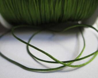 10 m nylon string green olive 0.8 mm