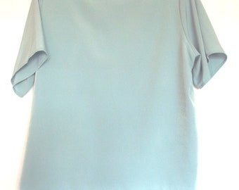 Jack Mulqueen Slate Blue Blouse With Back Button Clousure