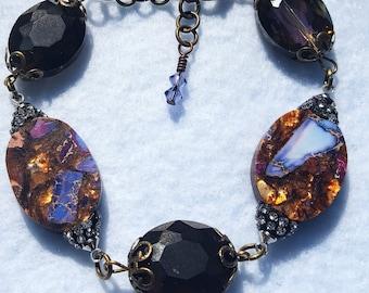 Purple Bronze Bracelet