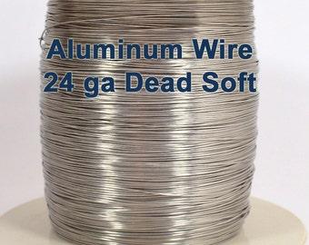 24ga Aluminum Wire - Dead Soft - Choose Your Length
