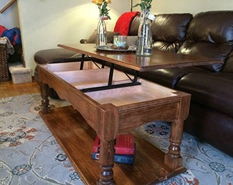 Lift-Top Coffee Table-Traditional in Maple