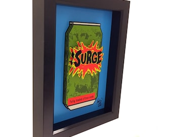Surge Drink Surge Soda 3D Art Coca Cola Coke 1990s Pop Art