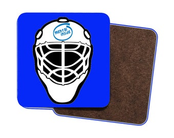 4 x Funny Field Hockey Goalkeeper Drinks Coasters! Mental Inside! Cool Field Hockey Gifts. Hockey Humour/Hockey Gifts/Hockey Goalkeeper