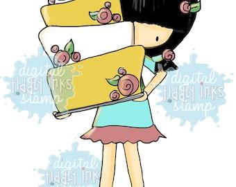 Happy Birthday Girl | Digital Stamp