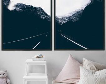 Wall Art Print Landscape Photography Office Decor Home Decor Gift For Men Digital Download Boyfriend Gift Minimalist Poster Mountain Print