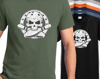Bowling T shirt - bowlers skull shirt, bowling crossbones t-shirt, bowling league shirt, bowling team shirt.