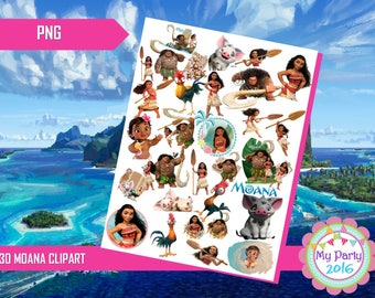 30 Moana Clipart PNG - Transparent Background