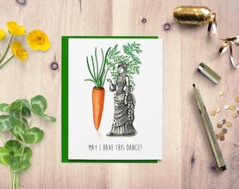 Funny birthday card, Birthday card, birthday card for her, card for him, vegan birthday card, vegetarian card, handmade greeting card