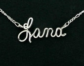 Personalized Silver Name Necklace - Handmade