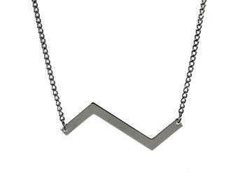 Silver Zigzag Necklace