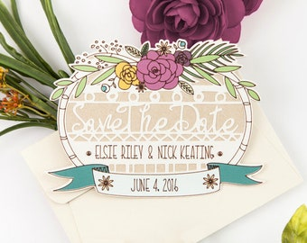 Bohemian Save the Date Cards