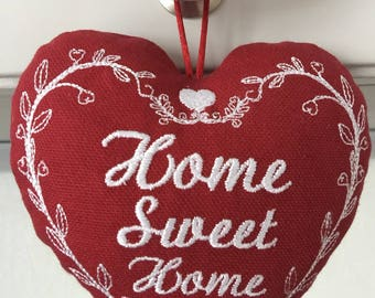 "embroidered heart ""home sweet home"""