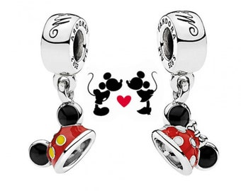 Pandora Disney Minnie & Mickey Ears Hat Charms