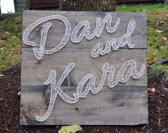 String Art Custom Wedding Sign