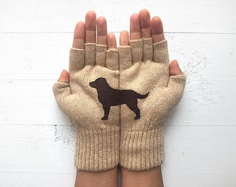 Winter Sale, Year Of The Dog, Labrador Gift, Dog Gloves, Chinese New Year, Labrador Gloves, Pet Lover Gift, Dog Gift, Mother's Day Gift