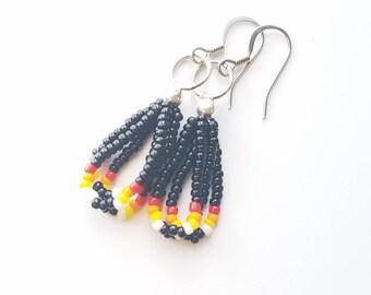 Short Black Dangle Earrings