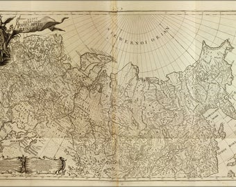 Poster, Many Sizes Available; Map Of Russia 1726 In German