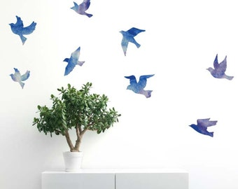 Watercolour Flock of Birds | Removable Wall Sticker