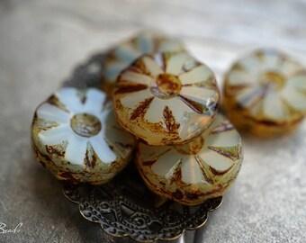 Renaissance Flowers, Flower Beads, Czech Beads, Beads, N2367