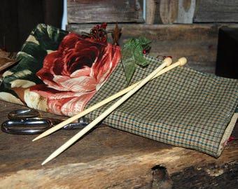 Large Knitting Needle Case/Knitting Needle Roll/Knitting Organizer