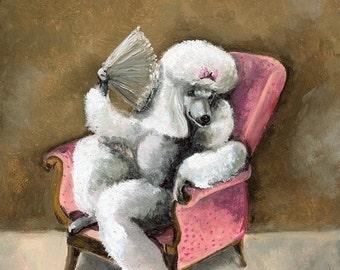 Queen Isabelle- Spoiled Poodle Art , dog art