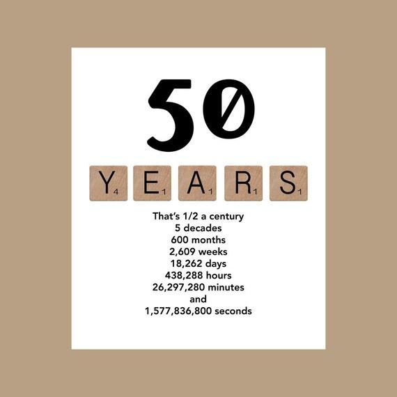 50 Birthday Card Yelomdiffusion