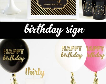 30th Birthday Decorations 30th Birthday For Him or Her 30th Birthday 30th Birthday Party 30th Birthday Poster (EB3058FY) - Printed SIGN ONLY
