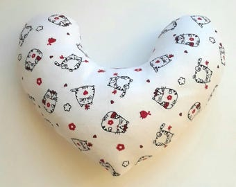 Mastectomy Pillow -- Kitty Breast Cancer Comfort Pillow, Mastectomy Gift