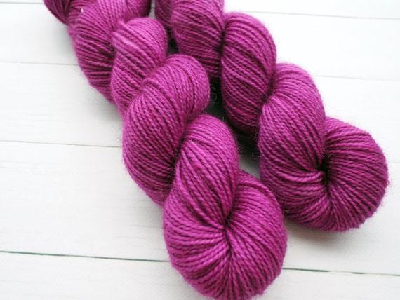 Hand Dyed Sock Yarn Superwash Wool Nylon 80/20 Fingering Weight Yarn Sock Yarn 50 Grams - Tonal Sock Yarn Pink Yarn - Party Dress Sock Yarn