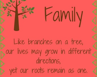 Family - Like branches on a tree - - JPEG Digital Download - PNG & PDF also available