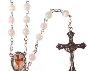 First Holy Communion Present. Holy Communion Rosary Beads. A lovely gift for a First Holy Communion Day.