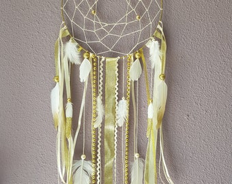 Gold summer dream catcher and ecru glam and chic
