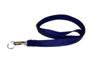 Navy Blue Lanyard, Keychain Lanyard, ID Badge Holder, Fabric Lanyard, Teacher Gift, Womens Gift, Mens Gift, Birthday Gift, Student Gifts