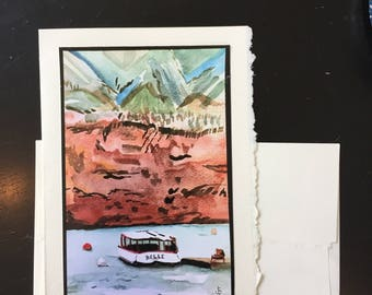 Boat waterscape Greeting Card