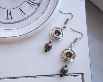 Teacup Steampunk Earrings Teaparty