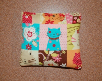 Adorable Cat rice bag , Heating Pad, Microwave Hot / Cold Pack, Heat Therapy, Rice Bag, Natural Pain Relief, Idea for Women