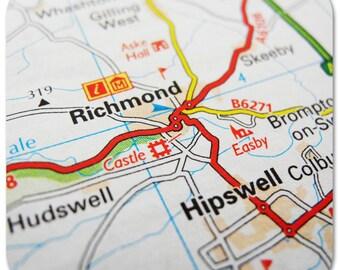 Richmond Map Coasters