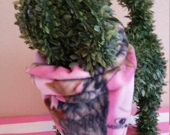 Fleece Pink Camouflage Bandana Dog Cat Pet I'm Beating Cancer or Hug Me I'm On Chemo Reversible Winter