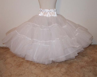 Floor Length Organdy and Satin Fluffy Petticoat, Princess Petticoat for Full Length Dresses Infant Baby Toddler Girls Can Can Petticoat