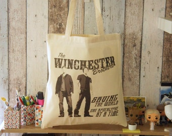"Tote bag ""WINCHESTER BROS"" - SUPERNATURAL / Sam Winchester / Dean Winchester"