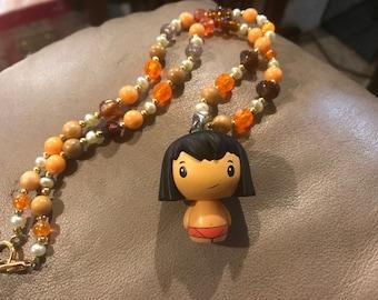 Mowgli jungle book necklace