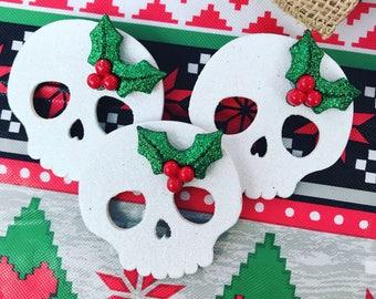 Holiday skull pins