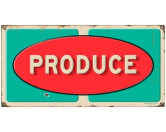 Produce Grocery Store Wall Decal Distressed #49564